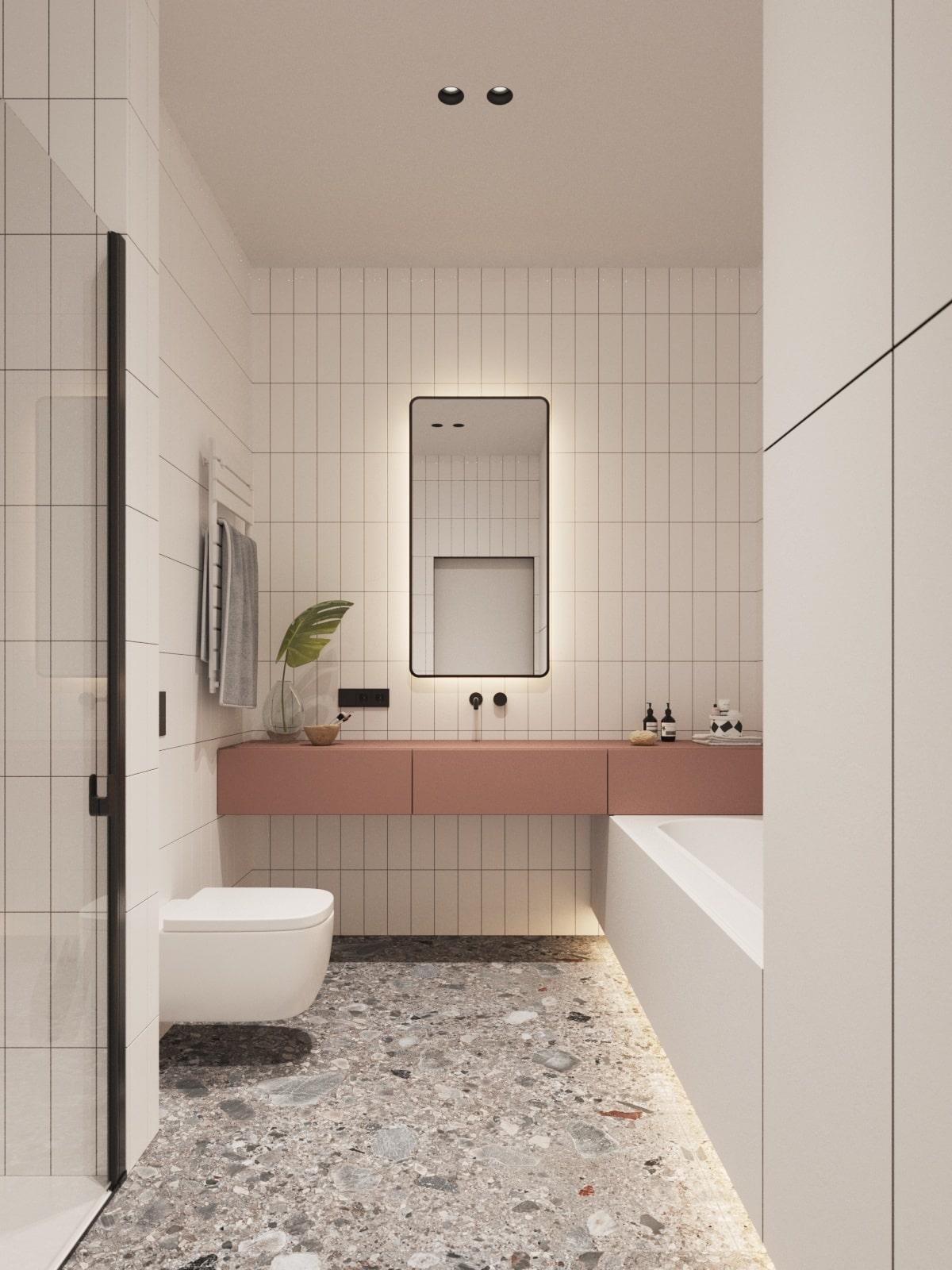 Дизайн ванной в ЖК Кристал парк в Киеве